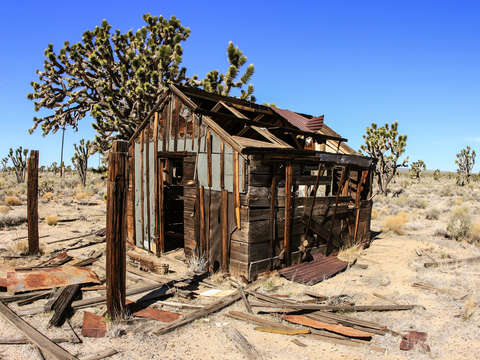Old shack in the mojave