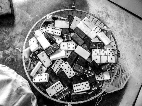 Basket of dominoes