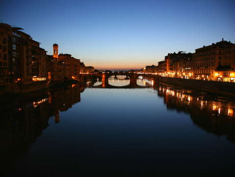 Arno river reflections