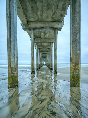 Columns in the sand