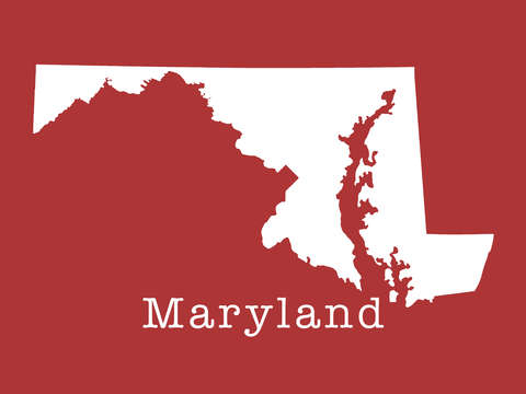 Maryland state in earth red