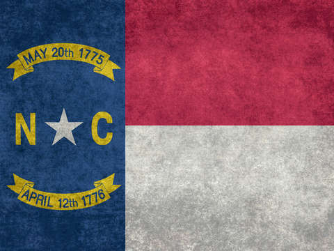 North carolina state flag vintage retro style