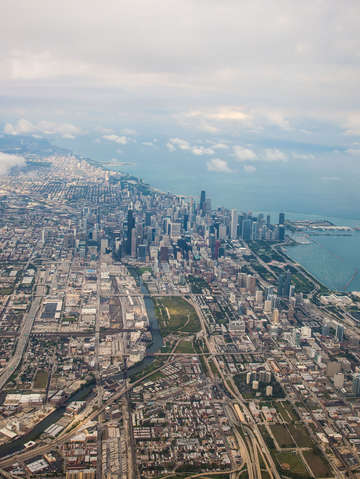 Windy city aerial
