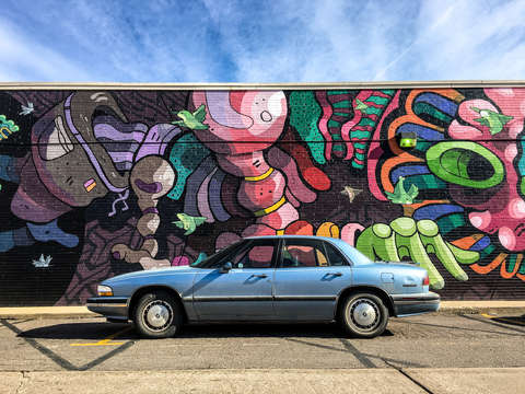 Buick lesabre and graffiti