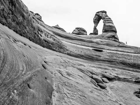 Delicate arch from below 2