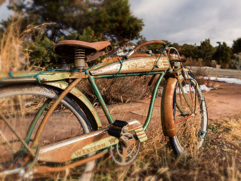Rusty desert bike