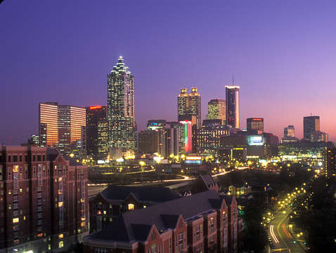 Atlanta skyline at dusk 05ab4822