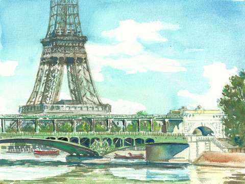 Paris bir hakeim bridge