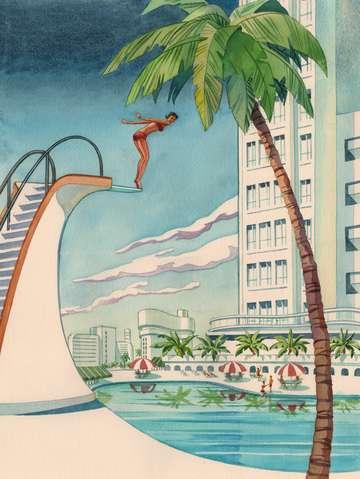 Art deco diving board