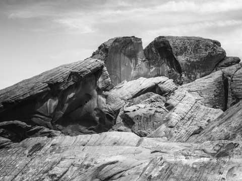 Arch rock monochrome