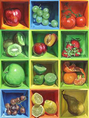 Boxed still life fruit series 1