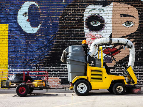 Street cleaner in deep ellum