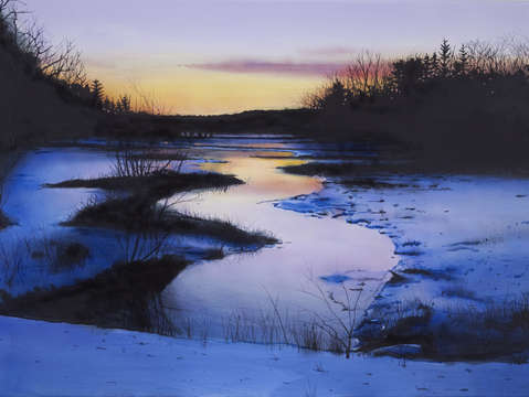 Winter in a new england marsh