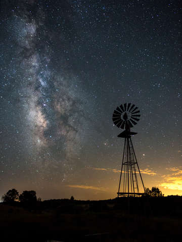 Milky way and windmill i