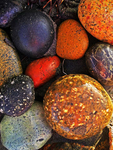 Beach pebble rainbow