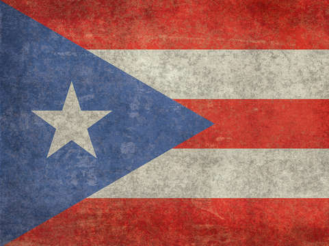 Flag or puerto rico vintage 2