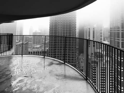 Marina city towers view of chicago