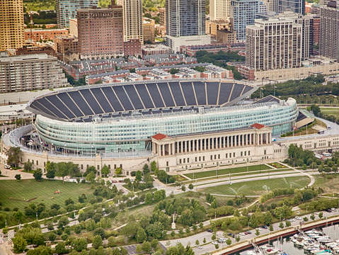 Chicago's Soldier Field Aerial