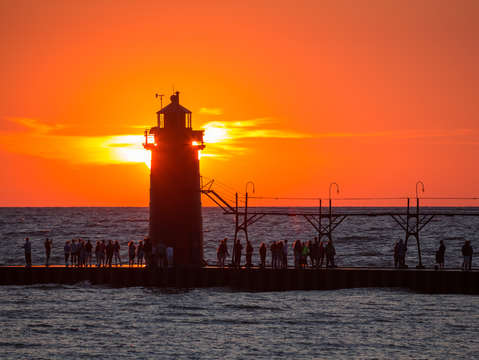 South haven michigan sunset