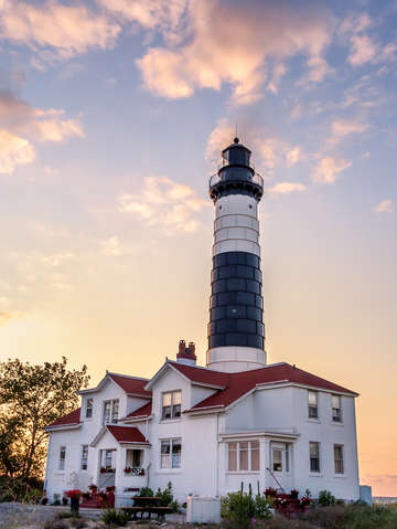 Big sable point light and keepers house