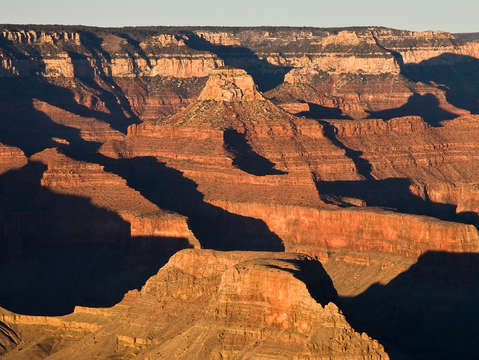 Shadows in grand canyon