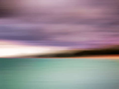 Turquoise waters blurred abstract