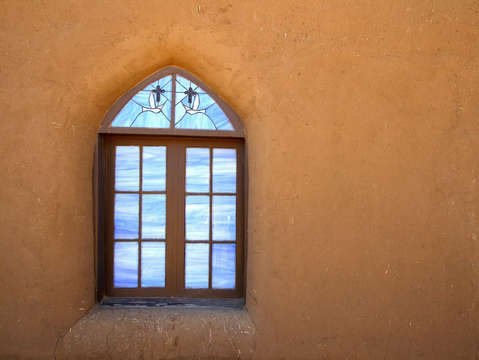 Taos pueblo window horizontal