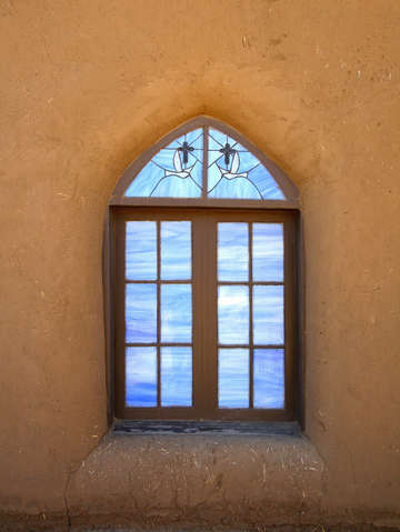 Taos pueblo window vertical