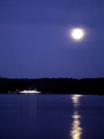 Moon and Ferry