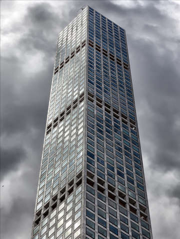 A very tall building