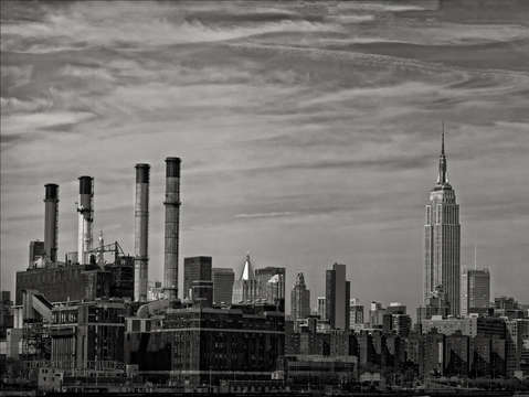 New york panorama from brooklyn