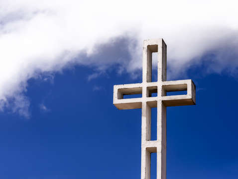 Cross among the clouds