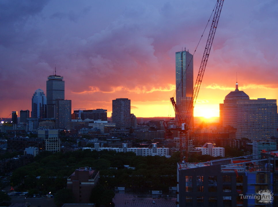 Boston sunset 2
