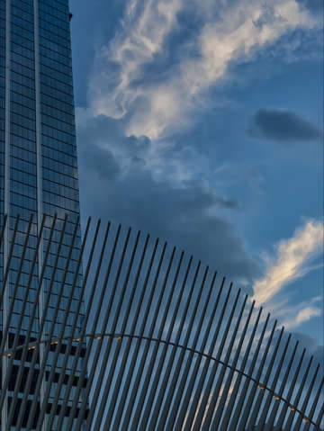 Architecture sky and clouds lower manhattan