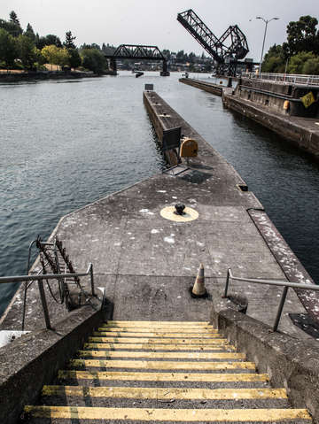 Ballard locks and drawbridge