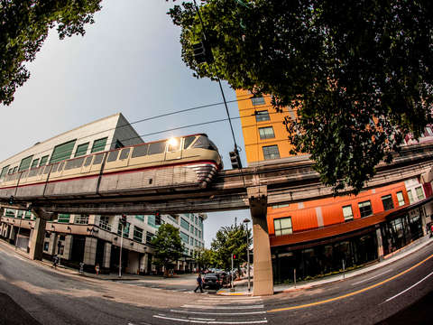 Moving monorail in seattle
