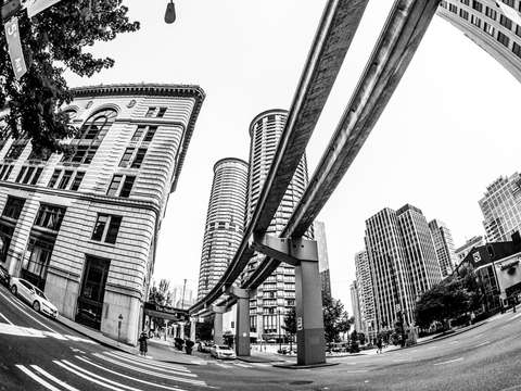Seattle monorail tracks