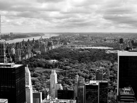 Central park 18 bw