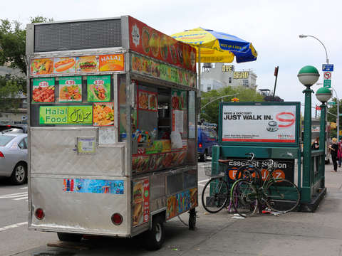 Food cart in the lower east side