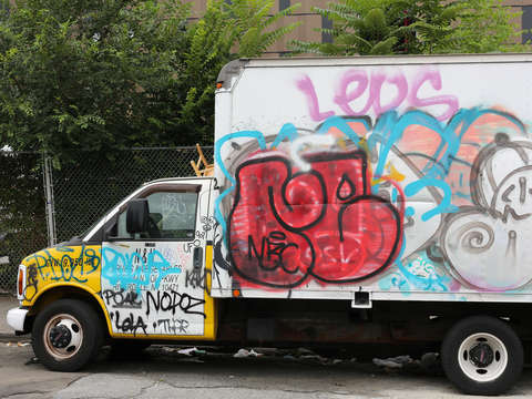 Classic new york grafitti truck