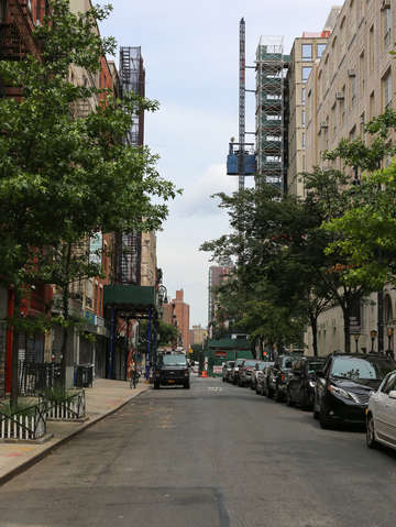 Looking down a street in the lower east side