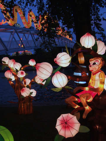 Chinese lantern festival toronto monkey and blosso