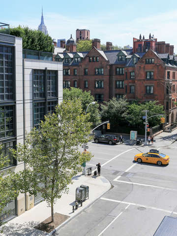 Elevated view of chelsea nyc