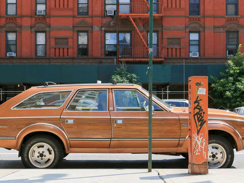 Wood car harlem nyc new york