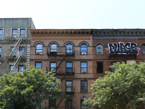 Graffiti building harlem nyc new york