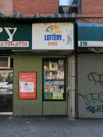 Lottery store harlem nyc new york