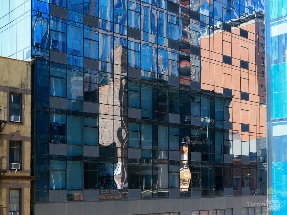 Patchwork buildings in chelsea nyc