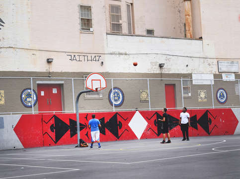 Harlem basketball court