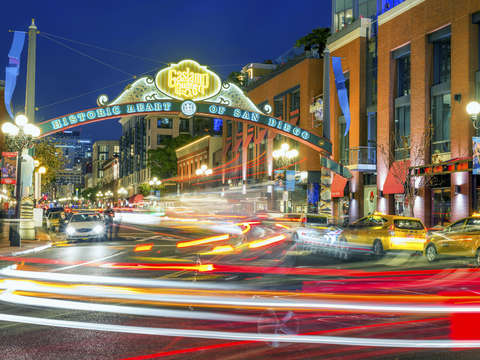 Gaslamp in color