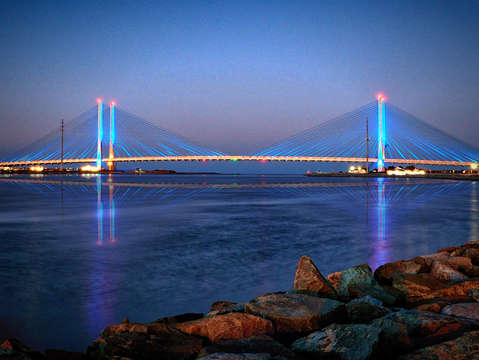 Indian river inlet bridge twilight